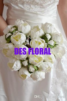 Artificial Fake Flowers Vintage 28cm Ivory/Cream Real Touch Peony Bouquets Bridal Wedding Bouquet For Centerpiece Decoration Online Flowers Delivery Origami Flower Bouquet From Desfloral, $12.36| Dhgate.Com