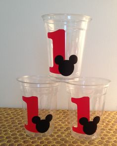 24 Mickey Mouse Party Cups 16 oz Cups by LuluBellaCreations, $20.00