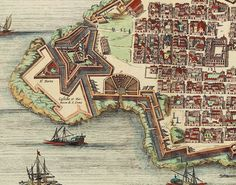 Old  Map of Valleta  Malta Island 1705 medieval by OldCityPrints, $25.00