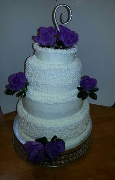 Wedding cake with Chantelle lace