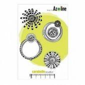 Carabelle Studio Stamp Set - Cadres et Fleurs par Azoline - SA60060
