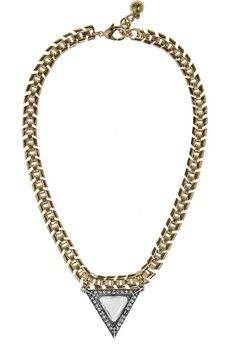 Lulu Frost Deco gold-tone, silver-tone, stone and Swarovski crystal necklace | THE OUTNET