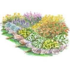 Colorful Slope Garden Plan