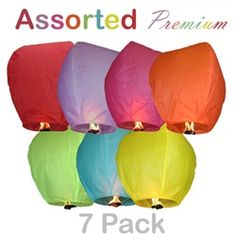 Would LOVE to have these!!  Assorted Premium Sky Lanterns (7 Pack)