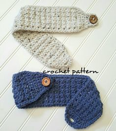crocheted headbands This is for a CROCHET PATTERN ONLY. I sell the matching glove pattern as a set of patterns here: you can buy them individually. Materials:Cat 4 yarn or worsted Crochet Crafts, Free Crochet, Easy Crochet Projects, Easy Crochet Headbands, Easy Crochet Hat, Easy Crochet Stitches, Flower Headbands, Crochet Headband Pattern, Crochet Phone Case Pattern Free