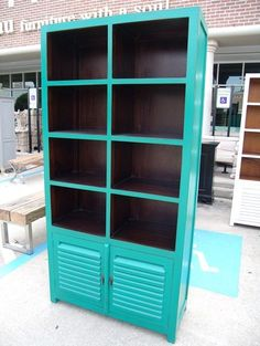 ♥♥ Furniture With a Soul ~ Two Tone Bookcase $405 ♥♥