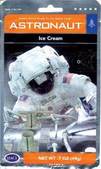 Astronaut Ice Cream! So cooL!