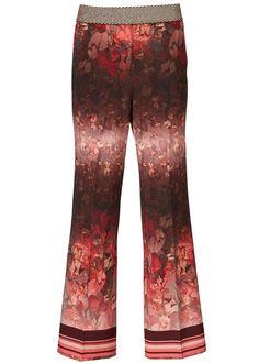 Gustav Bukser 25013 Printed Straight Legs Pants - rose dawn