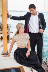 Glamour Sailing Engagement in Miami - Style Me Pretty