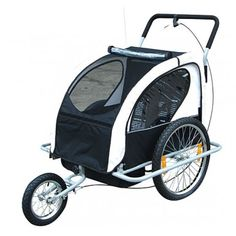 Buy Baby bicycle trailer in black & white Baby Bicycle, Family Leisure, Cheap Toys, Sports Equipment, Family Activities, Rattan, Kids Toys, Baby Strollers, Baby Kids