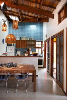 House beach interior kitchen small spaces 48 ideas for 2019 Kitchen Interior, New Kitchen, Kitchen Dining, Kitchen Decor, Kitchen White, Kitchen Wood, Kitchen Small, Kitchen Hacks, Kitchen Furniture