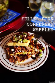 Pulled Pork Cornbread Waffles, the hubbs will die!