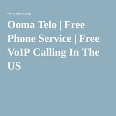 Ooma Telo | Free Phone Service | Free VoIP Calling In The US