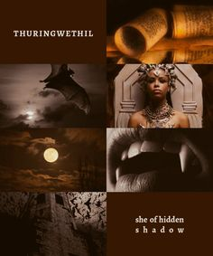 """Thuringwethil: She of Hidden Shadow """"She was the messenger of Sauron, and was wont to fly in vampire's form to Angband; and her great fingered wings wer barbed at each join's end with an iron claw."""""""