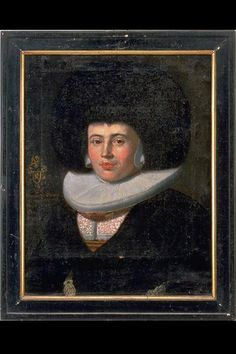 Painting. Damenporträt Margaretha Fries born Gimper. Half-length portrait with coat of arms and upper arms of the Gimper family. Fur hat ('Hinterfür'), ruff, black dress. Painter Conrad Meyer. Oil on canvas;; Frame: wood. 1670 (dated). Origin: Zurich. Dimensions: Height 53.2 cm, width 44.8 cm. (LM 11121) Lit .: 'L. Wüthrich / M. Ruoss, Catalogue of Paintings, Swiss National Museum, Zurich 1996 ', number 735