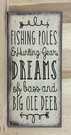 Fishing and deer sign #homedecor