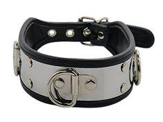Bondage und SM Edelstahl Halsband mit D-Ring EdelstahlHalsband
