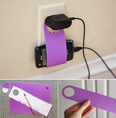 DIY : Cardboard Cellphone Charging Holder