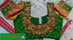 Rawsilk blouse with maggam work 7702919644