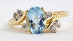 Antique Gold, Sapphire, and Diamond Bypass Ring Wholesale Engagement Rings, Luxury Engagement Rings, Beautiful Engagement Rings, Bypass Ring, Right Hand Rings, Aquamarine Gemstone, European Cut Diamonds, Brilliant Diamond, Vintage Rings