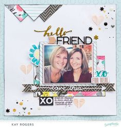 """A layout by Kay Rogers using the January kit """"Just a Girl"""" and add-on from Scraptastic."""