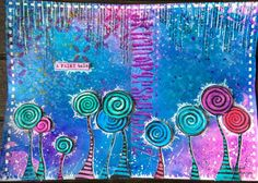 Dylusions and my stamps Art journal page
