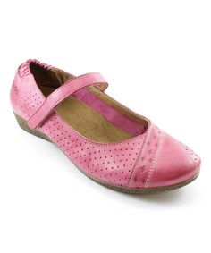 Look at this Magenta Step It Up Leather Mary Jane on #zulily today!