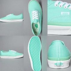 Tiffany blue colored vans! So cutee!