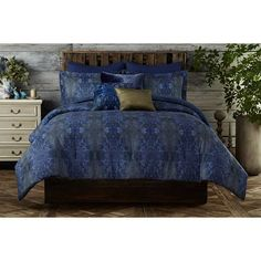 http://rubies.work/0161-ruby-rings/ Gigi Blue Full / Queen Comforter Set