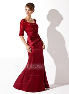 Mother of the Bride Dresses - $148.99 - I would want SILVER Trumpet/Mermaid Scoop Neck Floor-Length Charmeuse Lace Mother of the Bride Dress With Ruffle Beading (008005955) http://jjshouse.com/Trumpet-Mermaid-Scoop-Neck-Floor-Length-Charmeuse-Lace-Mother-Of-The-Bride-Dress-With-Ruffle-Beading-008005955-g5955