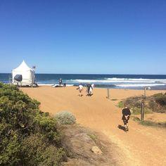 Bells Beach surf pro's practicing for the Rip Curl pro surf and walking behind Nat Young#ripcurlprotour#ripcurlprotour#bellsbeach#australia#tour#twentysixteen#blueskies#waves#ocean@nat_young by misssii http://ift.tt/1KnoFsa