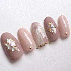 How to easily remove a glitter nail polish - My Nails Pearl Nails, Bling Nails, Glitter Nails, Korean Nail Art, Korean Nails, Nail Designs Spring, Gel Nail Designs, Asian Nails, Japanese Nail Art