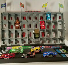 Cars 2 Fan Stands Play N' Display Case Plus Cars characters #Disney