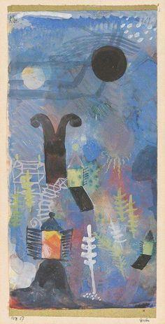 Paul Klee - Murnau, Garten (1918)