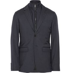 Burberry London Wool and Silk-Blend Blazer with Detachable Gilet | MR PORTER