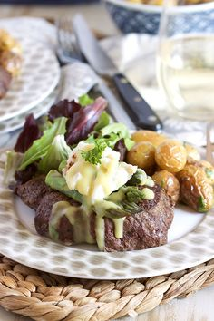 Easy Pan Roasted Filet Mignon Oscar Style is ready in just 30 minutes. Simple and elegant, great for any occasion. | @suburbansoapbox