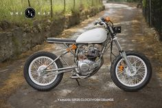 "Custom Yamaha SR125 Scrambler named ""Clockwork Orange"" by Unikat Motorworks."