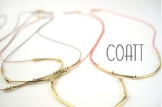 Morse Coded necklaces by COATT