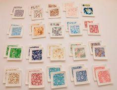 Felt Fabric Memory Game Flowers. $59.00, via Etsy.