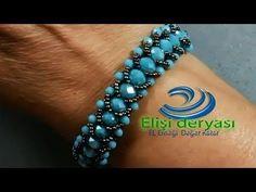 Beautiful and easy to take Crystal bracelet - DIY Schmuck Beaded Bracelets Tutorial, Handmade Bracelets, Beaded Jewelry Patterns, Bracelet Patterns, Diy Jewelry, Handmade Jewelry, Pearl Jewelry, Diy Schmuck, Beading Tutorials