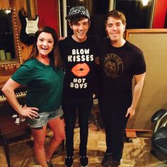 #ESAudio #RecordingStudio in #LosAngeles Enjoyed havin' #ShaneDawson in for his most Recent #Podcast featuring #MatthewLush:) It's Live now on iTunes and SoundCloud! https://soundcloud.com/shaneandfriends/episode-46-matthew-lush Pictured (l-r): #JessieButtafuoco , Matthew Lush and Shane Dawson www.ESAudio.com 2015