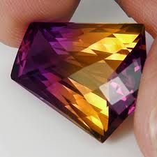 ametrine faceted
