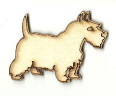 Scottie - Laser Cut Wood Shape DOG75