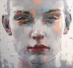 Jimmy Law paints faces, female and male, beautiful and more beautiful. Unlike their face, their look is clean and direct, looking straight in the eyes. The deep and wide touches and the color combination, give a sense of an image behind glass as the colors…