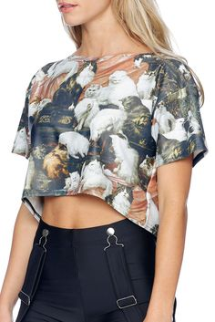 My Wife's Lovers Boxy Crop - 48HR (AU $65AUD) by BlackMilk Clothing