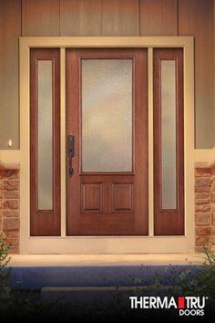 Therma Tru Pulse Solei Fiberglass Door Painted Stop With