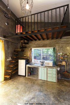 Interior Design For Living Room Home Room Design, Tiny House Design, Home Interior Design, Small Loft Apartments, Studio Apartment Decorating, Loft Room, Loft House, Loft Style, Lofts