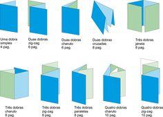 Modelos de folder com dobra mais usados