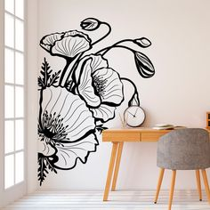 Cute college dorm decorations can be hard to find without spending your whole paycheck. Don't worry, here are 25 cute decor ideas for inspiration! Wall Painting Decor, Mural Wall Art, Vinyl Wall Art, Vinyl Decals, Wall Paintings, Wall Design, Wall Art Designs, Bedroom Designs, Design Design