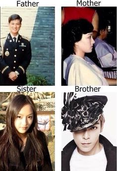 Choi Family: TOP looks like his dad when he smiles. But he is his mother's child! Not sure who his noona looks like tho.